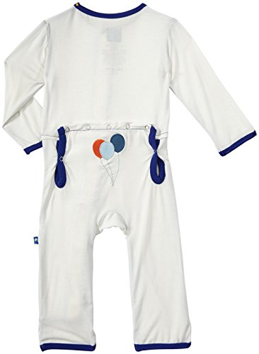 Kickee Pants Applique Coveralls (Baby) - Natural Balloons-6-12 Months