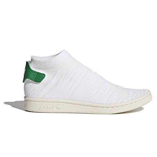 adidas Originals Womens Stan Smith Sock PK W Sneaker White/White/Green