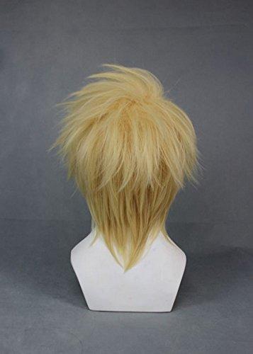 "Tomorrow Lover® 12"" Layered Blonde Short Heat Resistant Hair Cosplay Wig+wig cap"