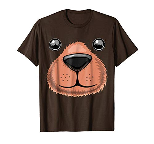 Halloween Bear Face Animal Costume Shirt Teddy Bear