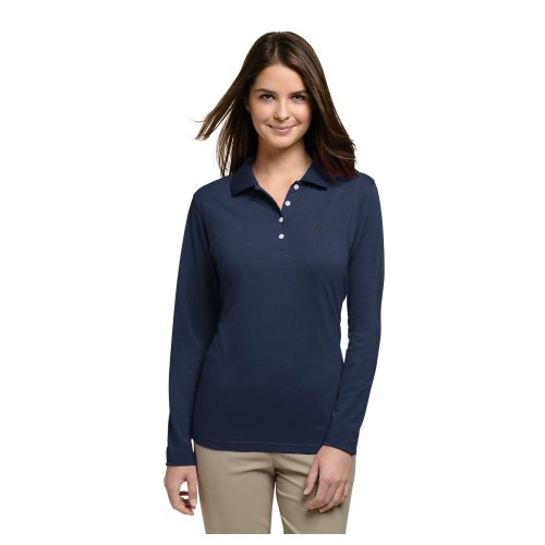 Coolibar UPF 50+ Women's Long Sleeve Polo Shirt - Sun Protective,XX-Large,White