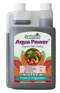 Safergro Aqua Power Certified Organic Fish Emulsion Concentrate, 1-Quart