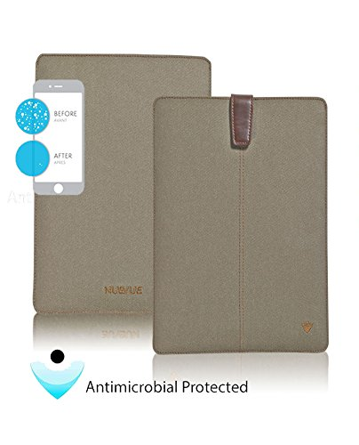 - NUEVUE - Khaki Cotton Twill Screen Cleaning for iPad Mini Case, Pink Antimicrobial Interior.
