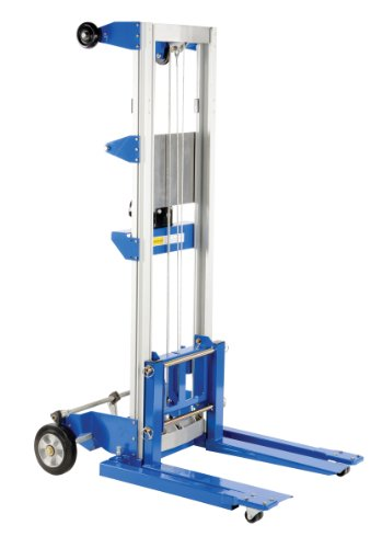"Vestil A-LIFT-S-HP Adjustable Straddle Hand Winch Lift Truck, 42-1/2"" Length, 43-1/4"" Width, 68"" Height, 400 lbs Capacity from Vestil"