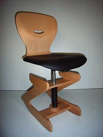 Hohenverstellbarer Stuhl Sh 38 Mit Schwarzem Polster