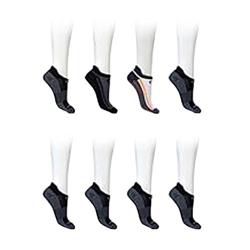 Price comparison product image Copper Fit Unisex Copper Fit Sport Socks With Anti-odor Technology and Arch Compression – 6 Pair (Large / X-Large) Black