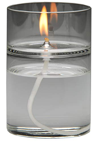 Firefly Our ZEN Refillable Aromatherapy Oil Lamp burns 48+ hours. Use the Oil Lamp with a Home Fragrance, Essential Oil or Unscented. We Suggest Burning Odorless, Smokeless Paraffin Lamp Oil.