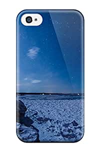 Durable Defender Case For Iphone 4/4s Tpu Cover(blue Sky Nature Snow )