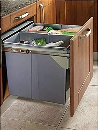 Ziehen Küche Abfall/Recycling Soft Close Mülleimer für 600 mm ...