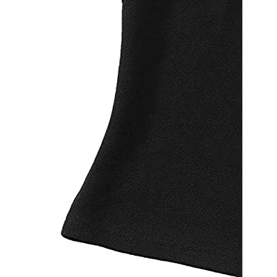 Romwe Women's Elegant Scallop Edge Sleeveless Solid Slim Fit Halter Tops Vest at Women's Clothing store