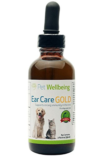 Pet Wellbeing - Ear Care Gold for Dogs - Natural Immune support for Dog Ears - 2oz(59ml)