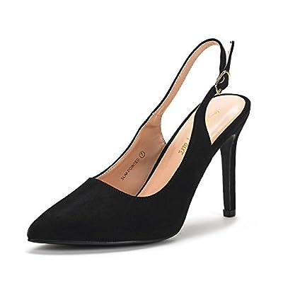 DREAM PAIRS Women's Slingback Pointed Toe Stiletto High Heels Dress Pumps