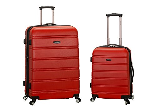 Rockland Luggage 20 Inch 28 Inch 2 Piece Expandable Spinner Set, Red, One Size
