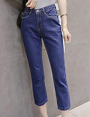 YFLTZ Womens Cotton Jeans Pants Solid Colored high Waist