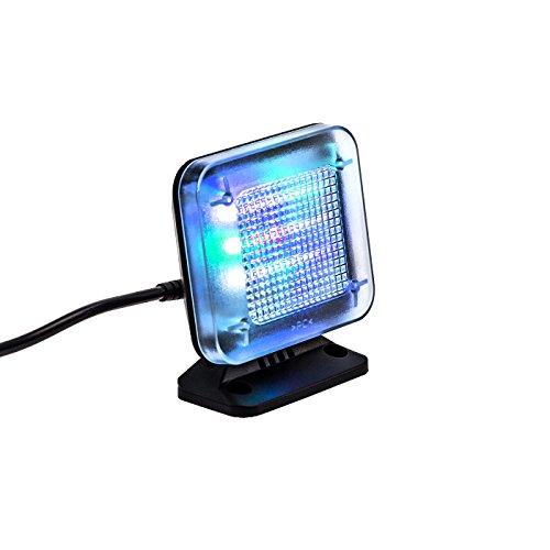 KOBERT GOODS - LED TV-Simulator, durch Lichtsimulation zum Einsatz als Einbruchschutz, Home-Security, Fernseh-Atrappe/ Fake-Fernseher, mit 12 LED's und 3 wählbaren Programmen, Zeitschaltuhr