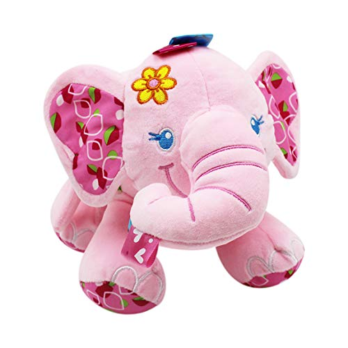 (Naovio Elephant Musical Doll Developmental Toy Cotton)