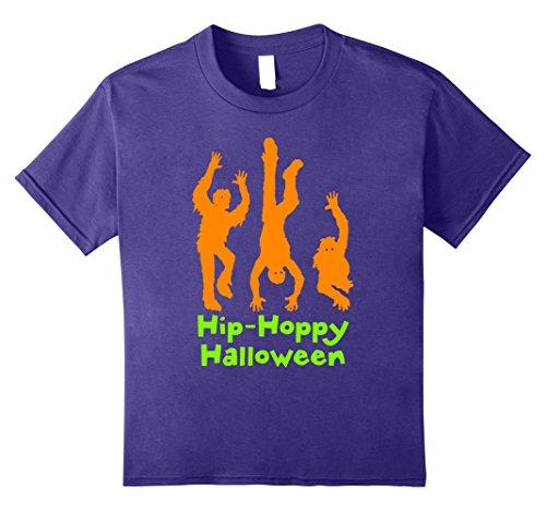 Kids HALLOWEEN Shirts Dancing Hip-Hop Mummies 10 Purple