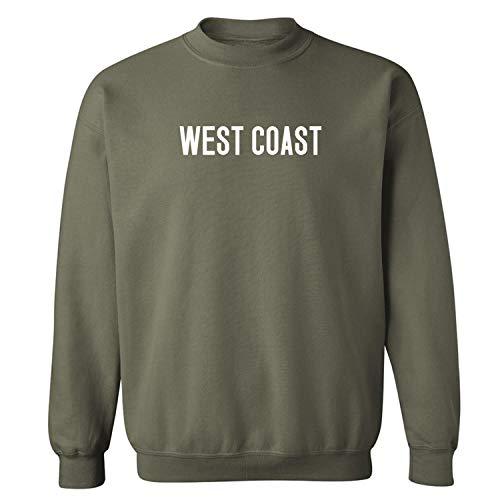 (WEST Coast Crewneck Sweatshirt in Military Green - Medium)