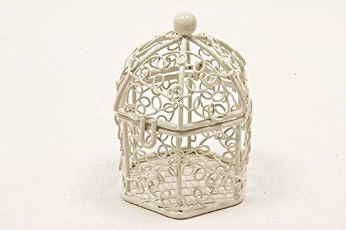 Mini, diseño de jaulas de pájaros, color blanco: Amazon.es: Hogar