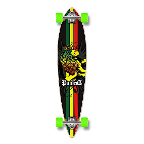 - Yocaher Blank Complete Longboard Pintail Skateboard (Complete Pintail -02- Rasta)