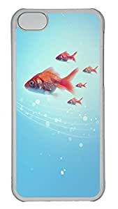 iPhone 5C Case Goldfish PC iPhone 5C Case Cover Transparent