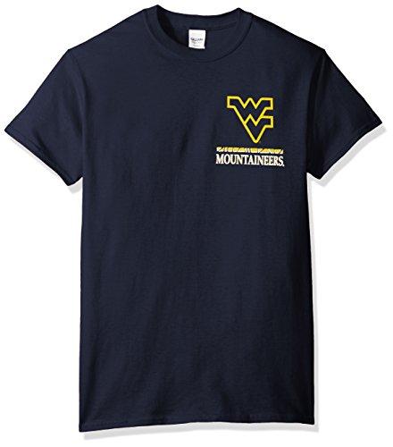 NCAA West Virginia Mountaineers Team Mosaic Short Sleeve Shirt, Medium, Navy