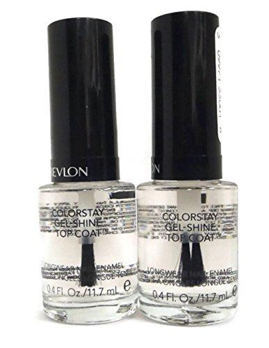 (TWO PACK) Revlon Colorstay Gel-Shine Top Coat Longwear Nail Enamel, 0.4 oz. -