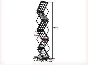 amazon com jlysheng iron magazine rack data rack Contemporary Desk Organizers Contemporary Desk Organizers