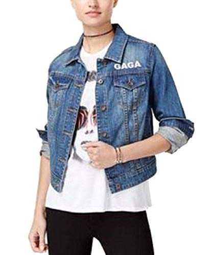 Bravado Lady Gaga Joanne Tour Juniors' Graphic Denim Jacket (Denim Blue, XL)