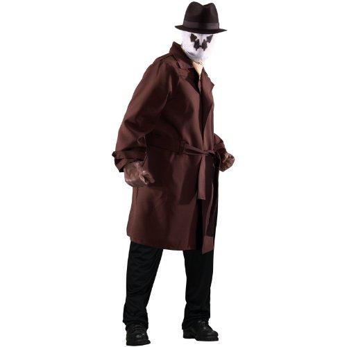 [Rorschach Costume - Plus Size - Chest Size 46-50] (Rorschach Costume Halloween)