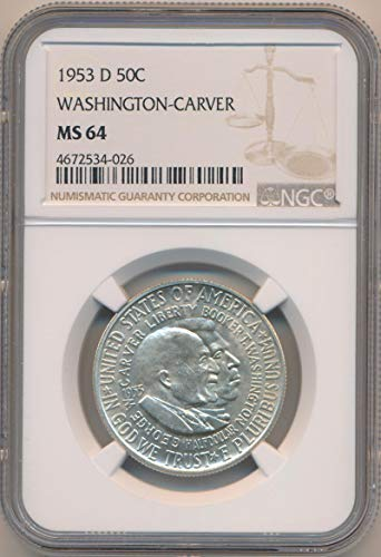 1953 D Half Dollar Washington Carver MS64 NGC ()