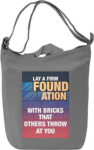 Firm foundation Borsa Giornaliera Canvas Canvas Day Bag| 100% Premium Cotton Canvas| DTG Printing|