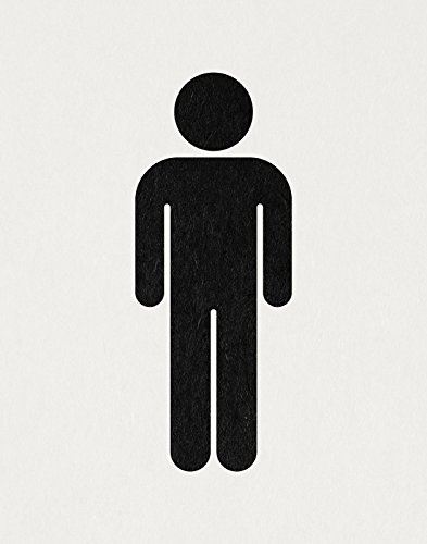 mens bathroom sign restroom figure wall art print person shape illustration poster or print with a - Mens Bathroom Sign