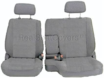 Fabulous Realseatcovers For 1990 1995 Front 60 40 Split Bench Premium Regal Fabric Custom Made Fit Seat Cover For Toyota Pickup A57 Gray Grey Ibusinesslaw Wood Chair Design Ideas Ibusinesslaworg