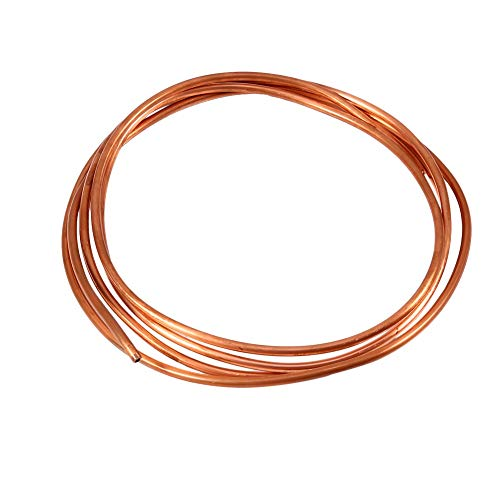 Copper Tube – 2M Soft Copper Tube Pipe Copper Round Tubing Soft Copper Coil Tube Pipe OD 4mm x ID 3mm for Refrigeration…