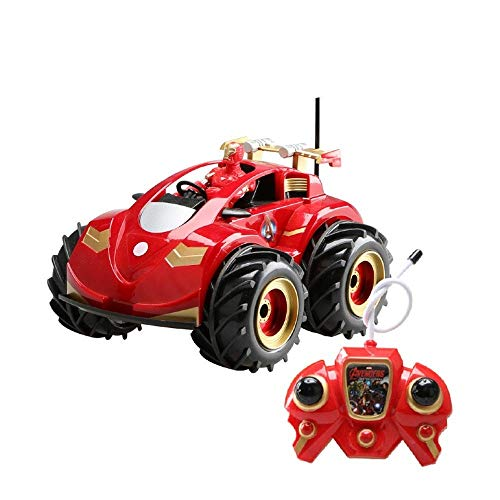 (Knmbmg 7km/h High Speed Big Wheeled Off-Road Vehicle Charging Rc Car Man Water and Land Amphibious 4WD Electric Remote Control Racing Car Toy Child Gifts)