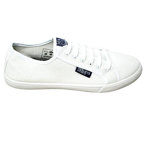 Casual Hombre Zapatillas Blanco Kenyon Zapatillas Zapatillas Diseñador Henleys De Lona Cordones qzqW1aTr