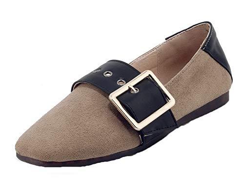Légeres Femme Gmbdb013302 Chaussures Bas À Unie Beige Talon Couleur Agoolar ntwxq8T0dw