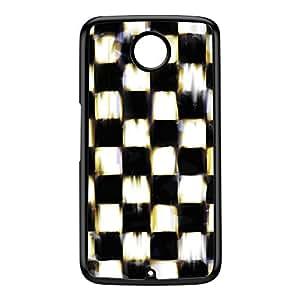 Checker Soil Black Hard Plastic Case for Google Nexus 6 by Fernando Garza + FREE Crystal Clear Screen Protector