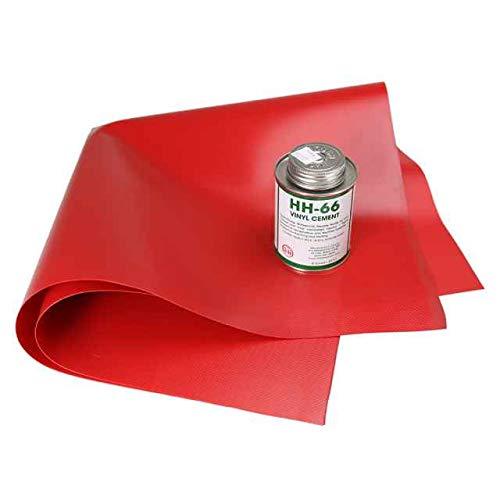 (Tarp Repair Kit: 2'x2' Red Tarp Patch and Vinyl)