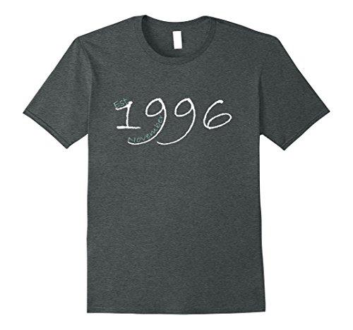 Mens Est November 1996 Tshirt - 21st Birthday gift T Shirt XL Dark Heather