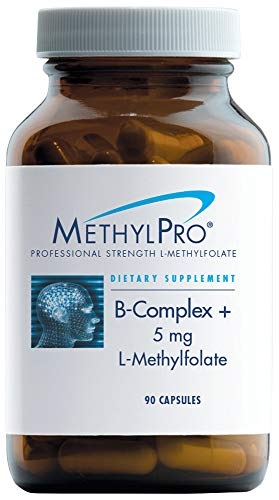 MethylPro L-Methylfolate 5 mg + B-Complex - Active Folate for Energy + Mood Support with Methyl B12 + B6 as P-5-P (90 Capsules) by methylpro (Image #9)
