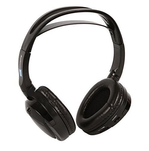 Audiovox Single Channel Wireless Fold-Flat Headphones with Batteries