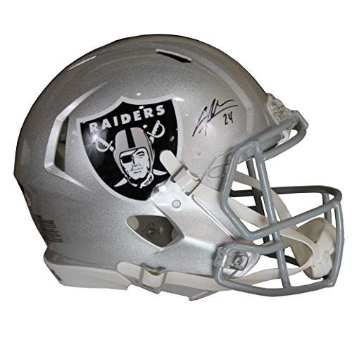 Charles Woodson Autographed Oakland Raiders Silver Riddell Speed ProLine Full Size Helmet w/Beckett COA
