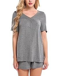 Avidlove Modern Cotton Sleepwear Short Sleeve Pajama Set For Women