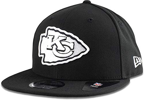 New Era Kansas City Chiefs Hat NFL Black White 9FIFTY Snapback Adjustable Cap Adult One -
