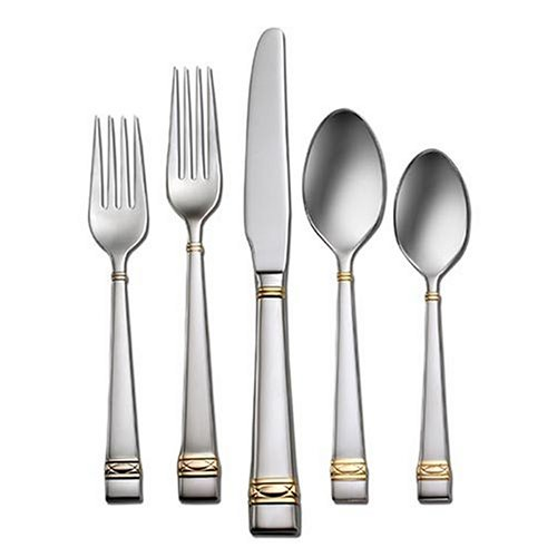 - Oneida Wedgwood Golden Oberon 5-Piece Individual Place Setting