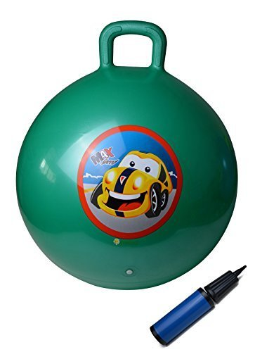 UPC 704342119412, GreEco Space Hopper Ball Including Free Pump, Kangaroo Bouncer, Hippity Hop, Bouncing Toy, Diameter 55cm/22 Inch for Ages 6-9, Green