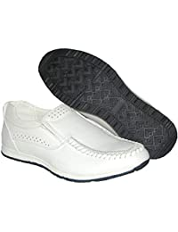 Stylish White Leather Lined Upper Mens Slip On Loafer