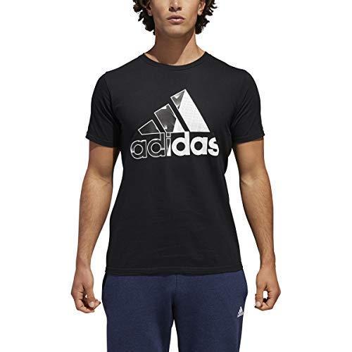 3a797ddb5 Galleon - Adidas Mens Badge Of Sport Classic Graphic Tee (Medium, Black)